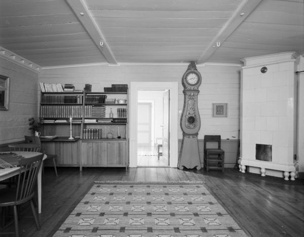 Digitaltmuseum   ingenjör lidströms hus interiör av vardagsrum med ...