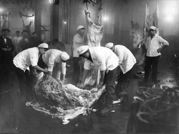 Slaktehuset på Grønland var invadert av rotter på 1930-tallet. Fra arkivet etter Oslo yrkesskole (Elvebakken videregående skole). Fotograf ukjent. (A-20141/Ua/0003/03).
