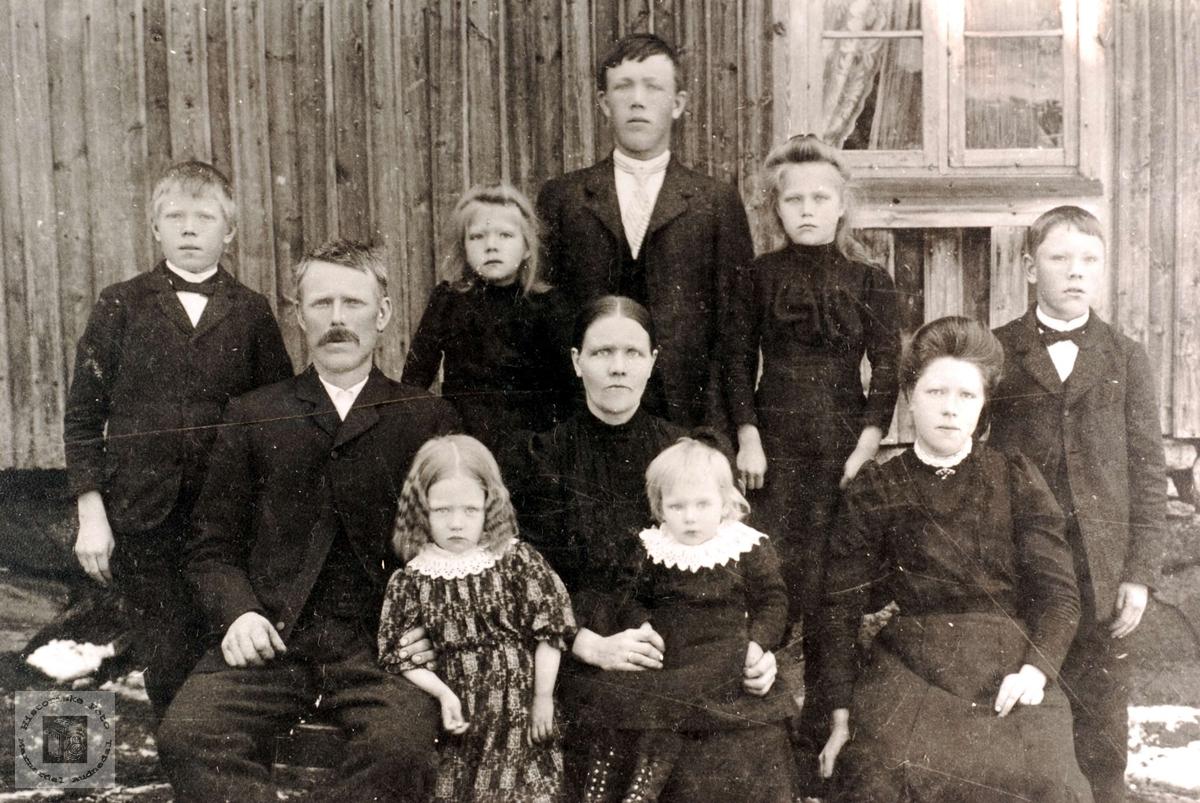 Familien Høyland, Grindheim.
