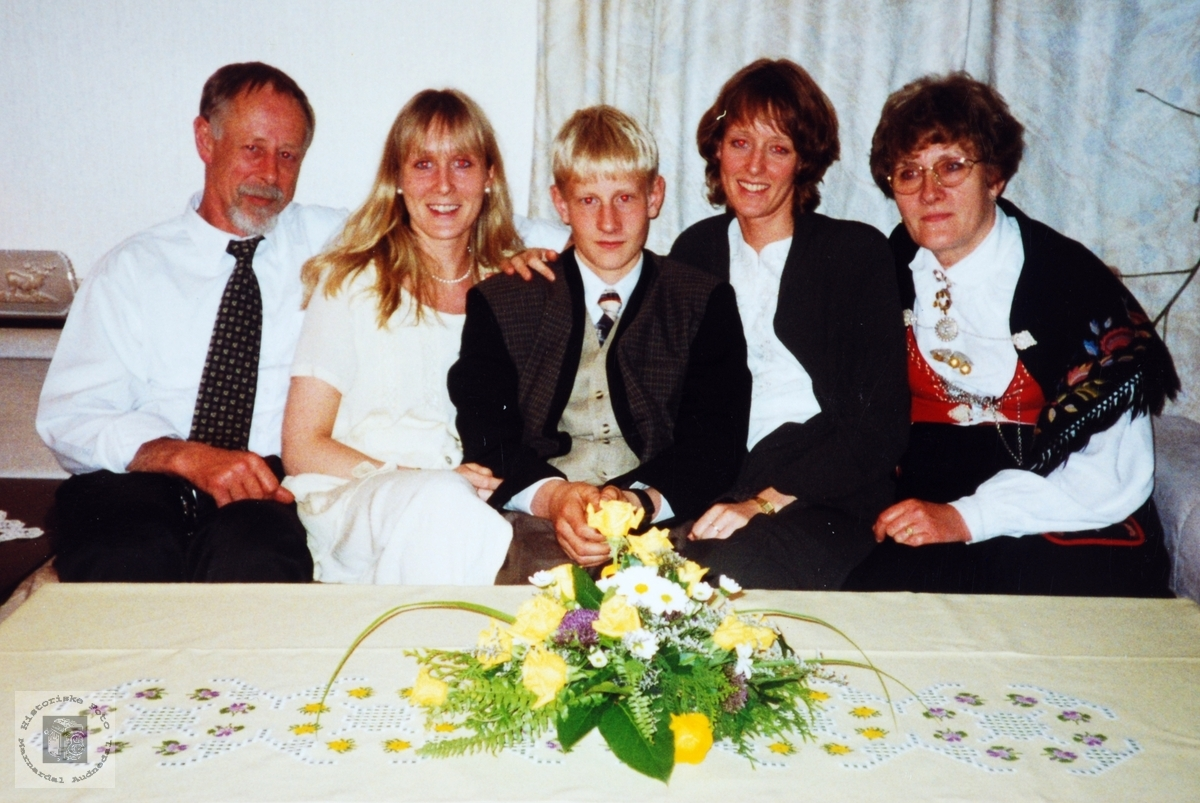 Konfirmasjonsfest for familien Lian. Smedsland Audnedal.