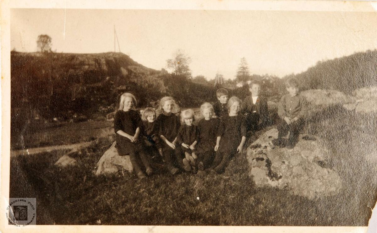 Barn på Birkeland i Konsmo. Audnedal.