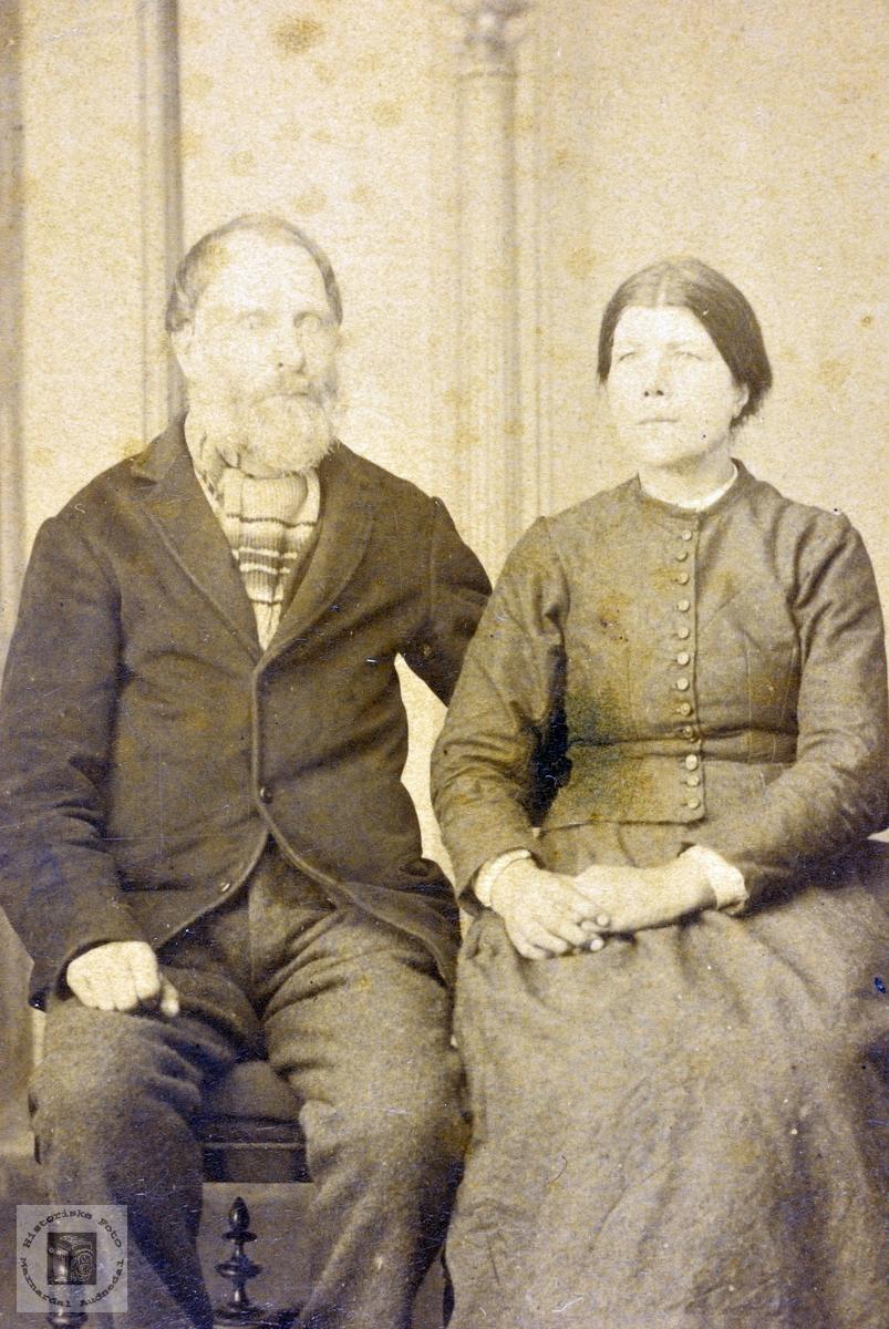 Portrett av ekteparet Ola og Anna Ågedal. Grindheim.