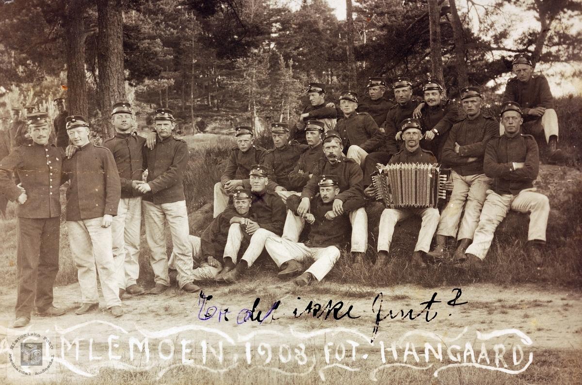 Millitærportrett fra Gimlemoen 1908. Kristiansand.