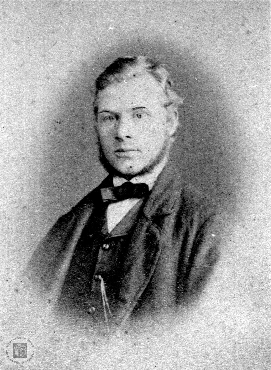 Portrett av Jens B. Ask, Bjelland.