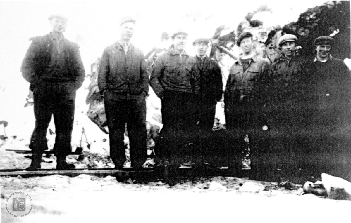 Jernbanearbeidere Sjåvann Breland Øyslebø.