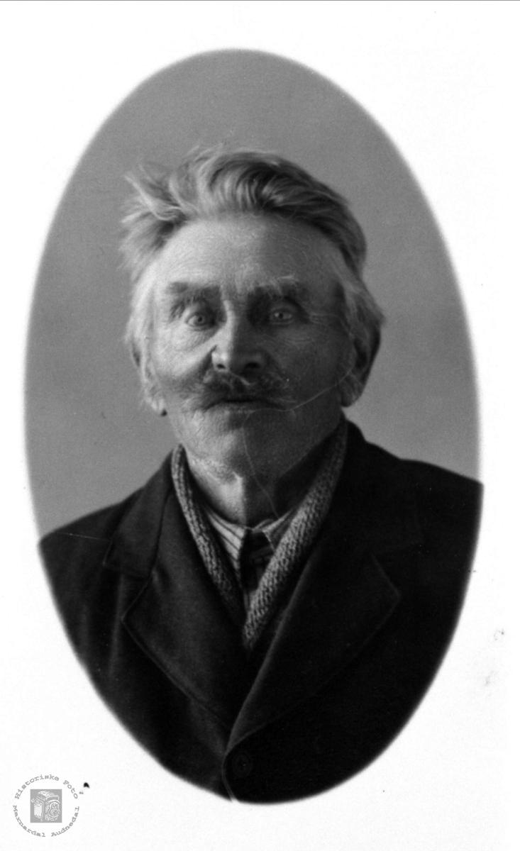 Portrett av Søren Haraldstad, Bjelland.