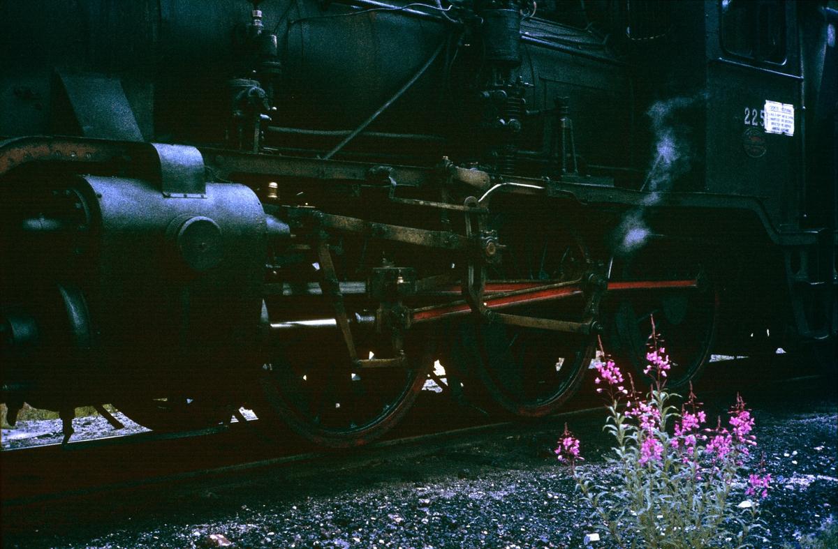 Nærbilde av maskinen på damplok 21b nr. 225.