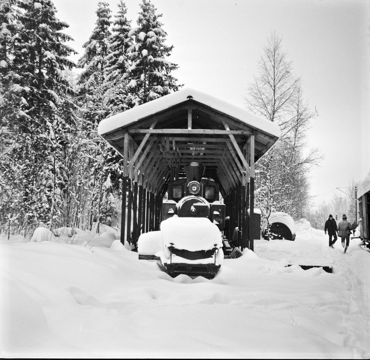 Lokomotivstallen på Bingsfoss stasjon.