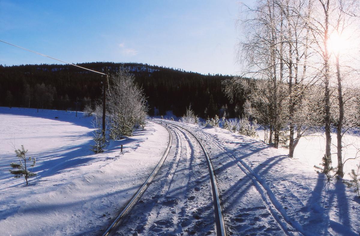 Parti fra Valdresbanene en vinterdag.