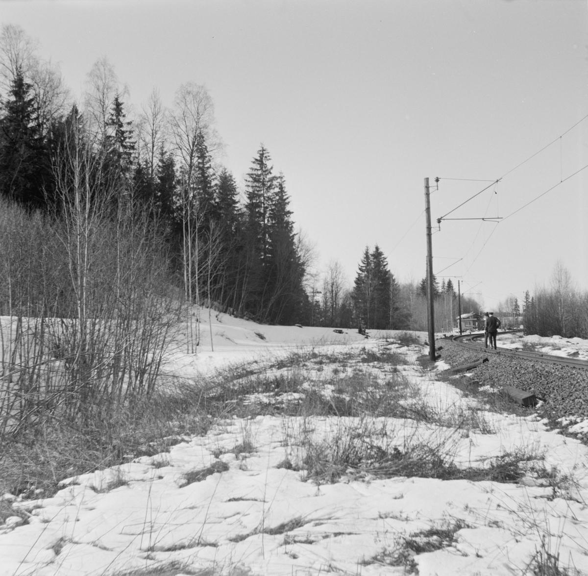 Den tidligere omlastingstomten på Bingsfoss. Her var det omlasting mellom Urskog-Hølandsbanen og Kongsvingerbanen fra 1896 til 1904.