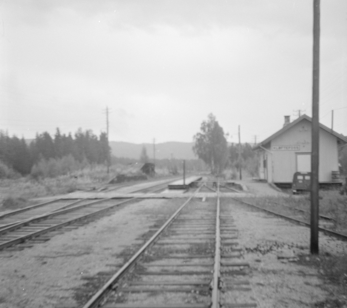 Fra Kløftefoss stasjon på Krøderbanen.
