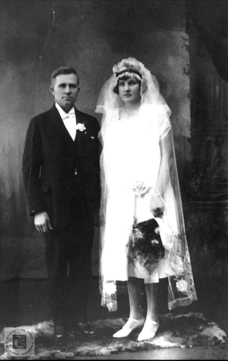 Brudebilde til Syvert og Karoline Midtbø