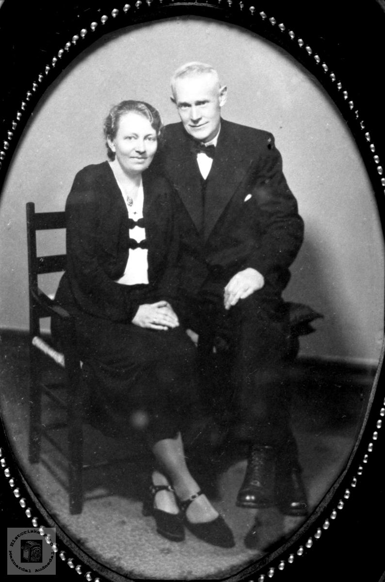 Ektepar. Gunhild og Jakob Viblemo.