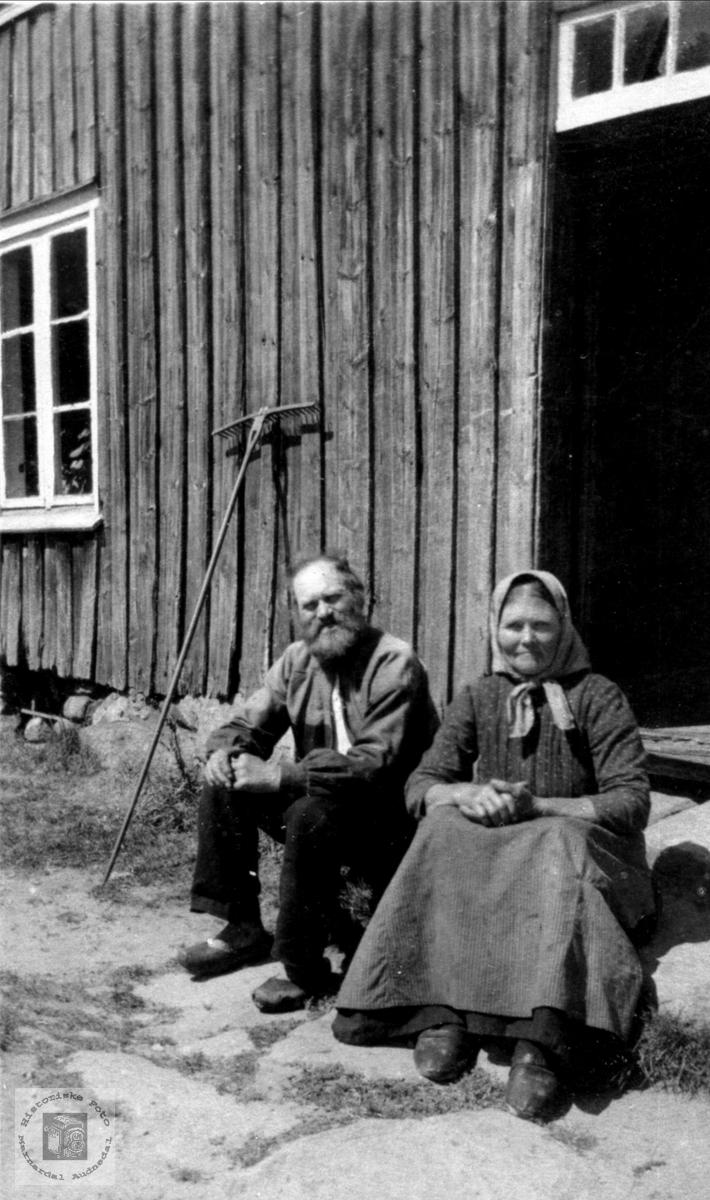 Ekteparet Ole og Dina Sangesland.