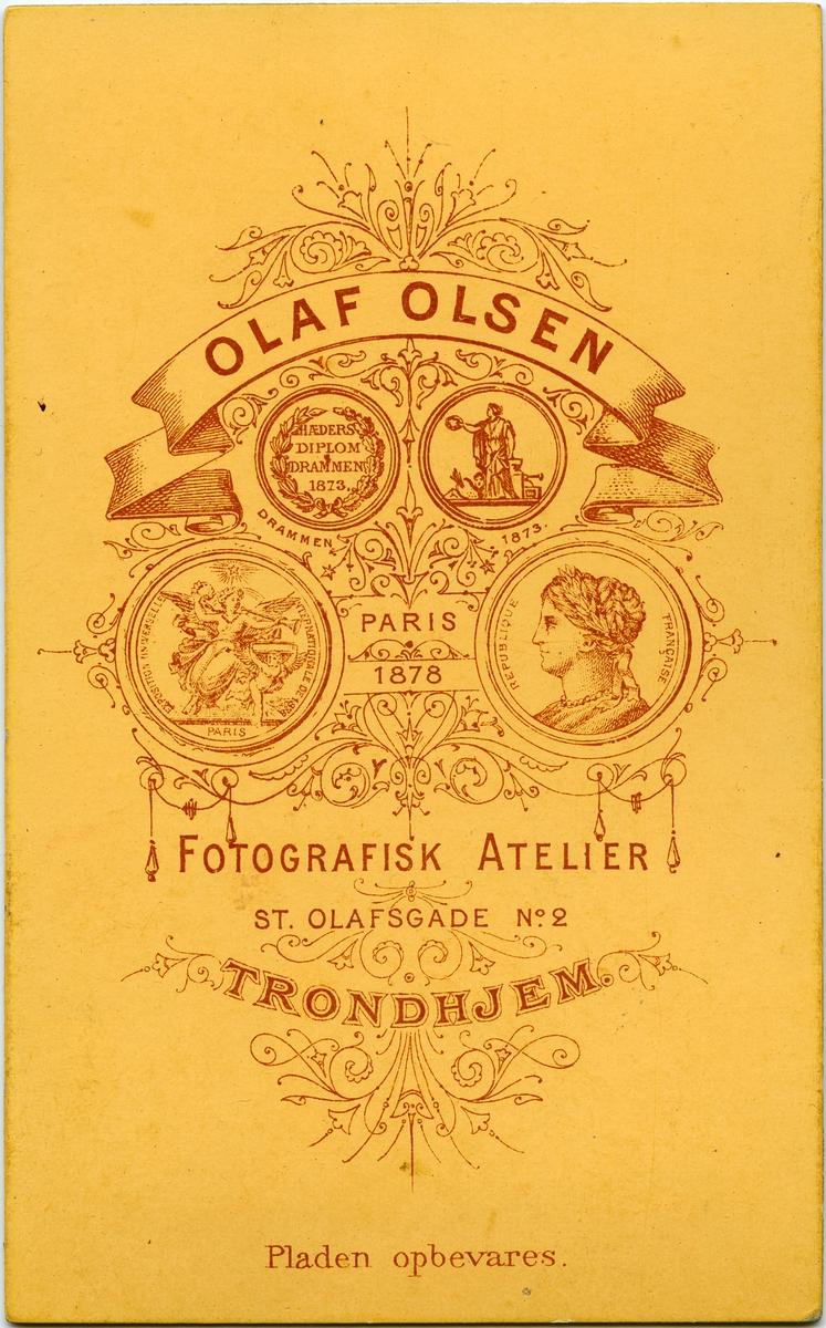 Halfdan Irgens. Bildet tatt en gang i løpet av siste halvdel av 1800-tallet, trolig en gang etter 1860.