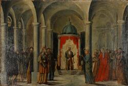 Kristus for Pilatus [Maleri]