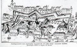 Fästningsområdet i Jönköping. Skiss.