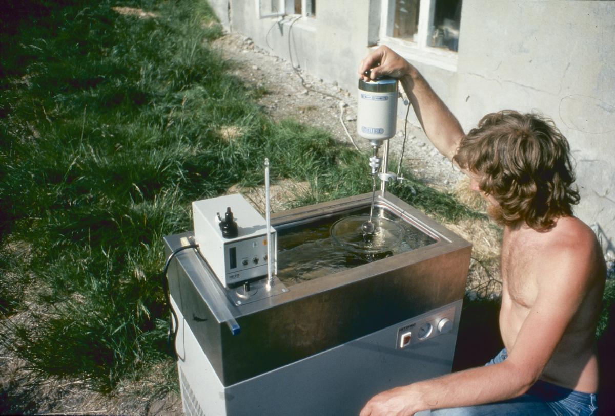 Terskelprosjektet. Testing av vann.