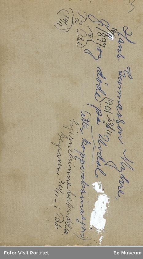 Barnebilete av Hans Gunnarsson Myhre 1897-1901