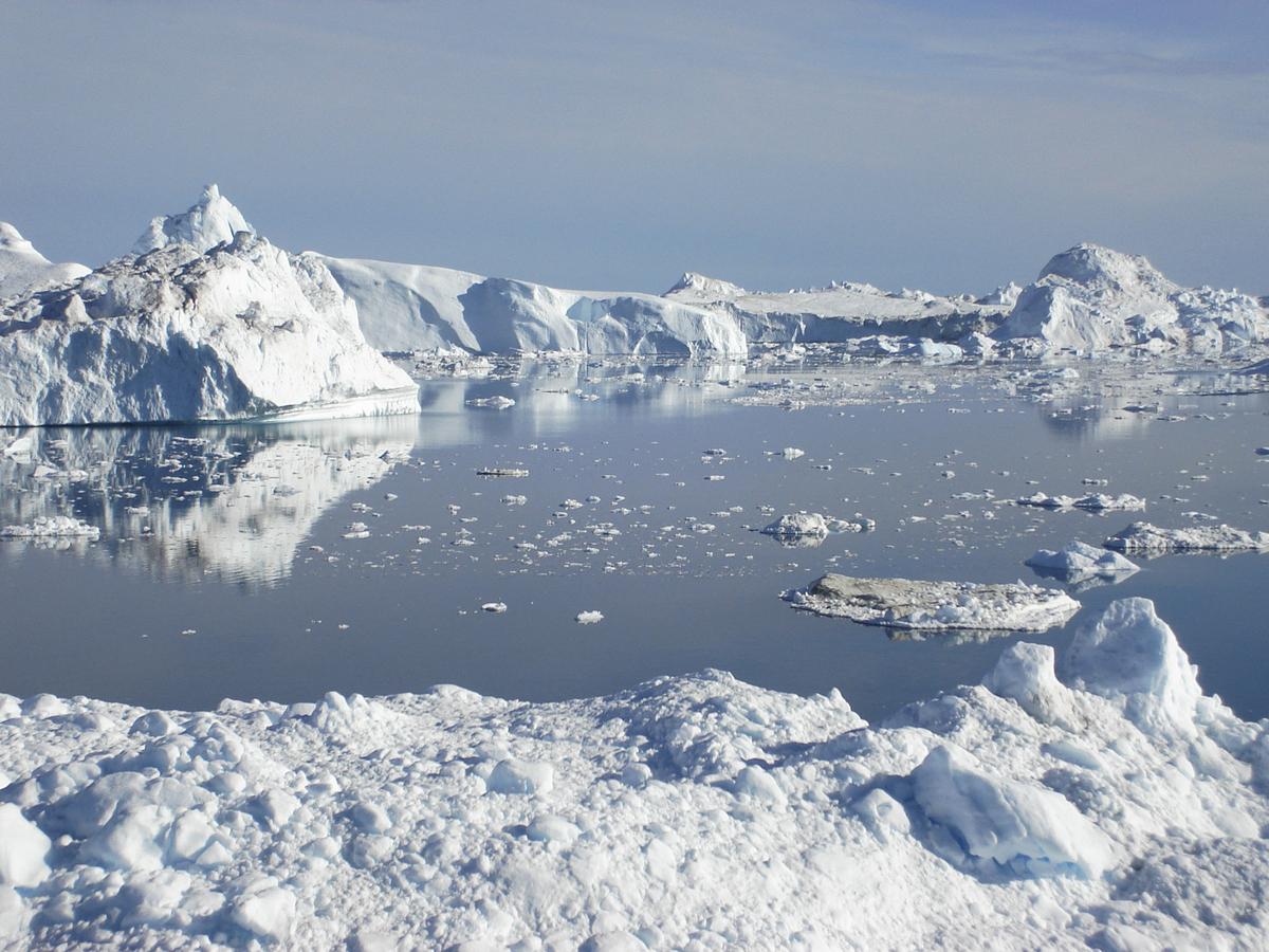 Isfjell i Jacobshavn isfjord, Vest-Grønland.