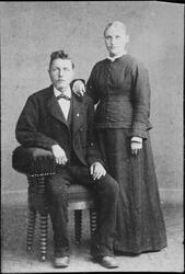 Brudebilde av Kirsten Rønne og Henrik Wik, Ørlandet