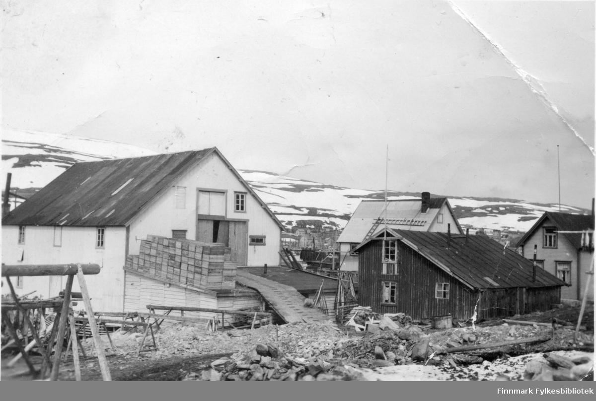 Martens fiskebruk i Båtsfjord i 1947.