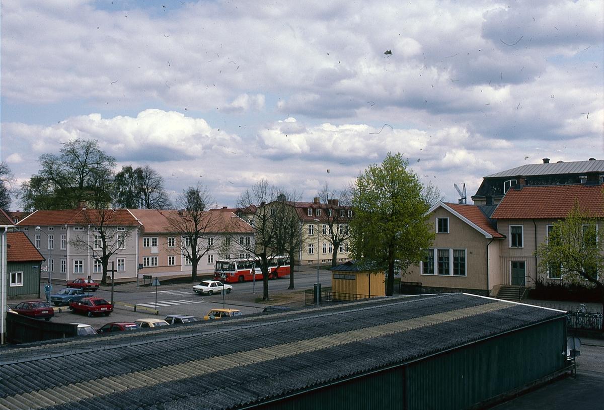 Norra Strömgatan, Lendahlskolan och kv Järta. 1980-tal.