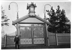 Raufoss Patronfabrikk ca. 1900. Bildet viser den nybygde por