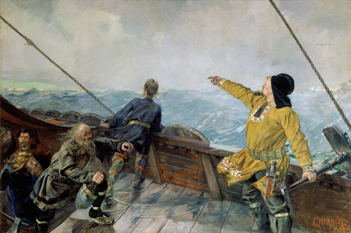 Leiv Eirikson oppdager Amerika [Maleri]