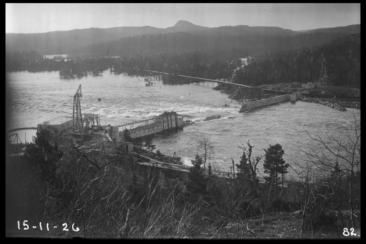 Arendal Fossekompani i begynnelsen av 1900-tallet CD merket 0565, Bilde: 43 Sted: Flaten Beskrivelse: Damanlegget
