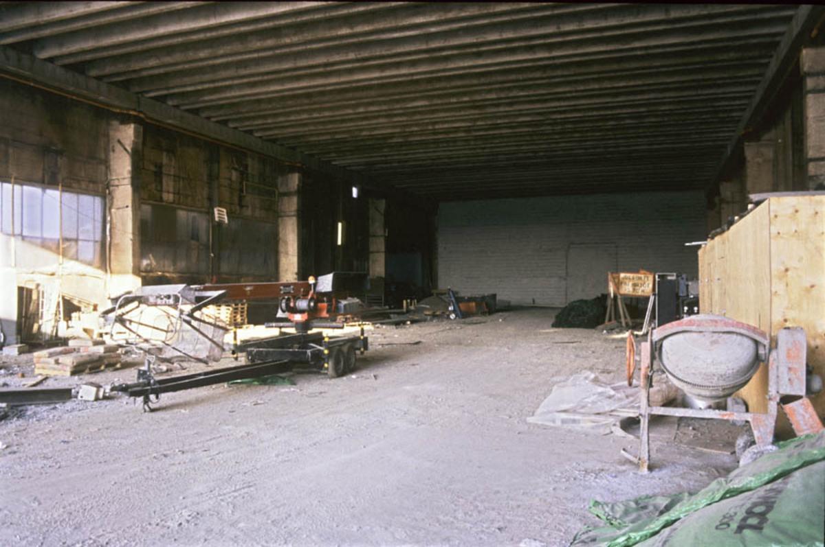 Strømmen Staal under ombygging til Strømmen Storsenter, interiør