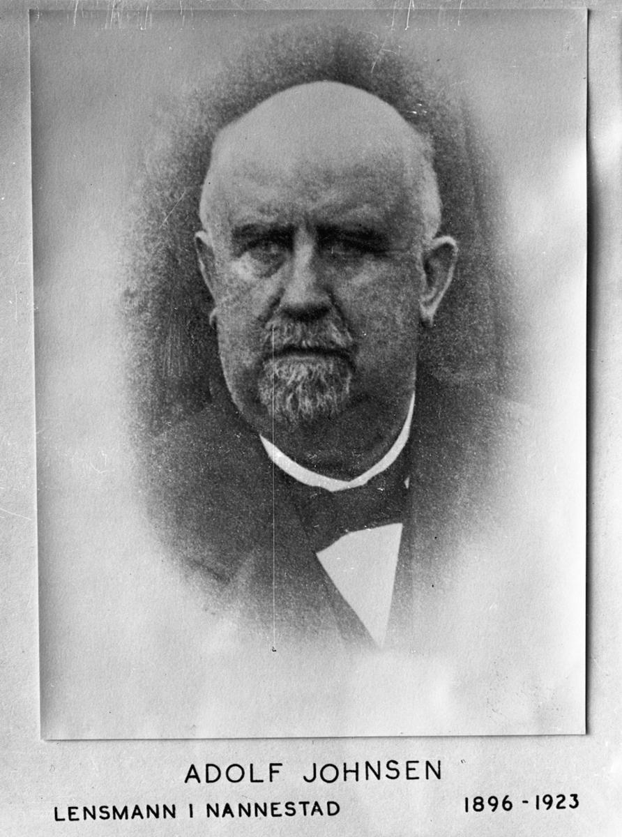 Adolf Johnsen. Lensmann i Nannestad 1896-1923.
