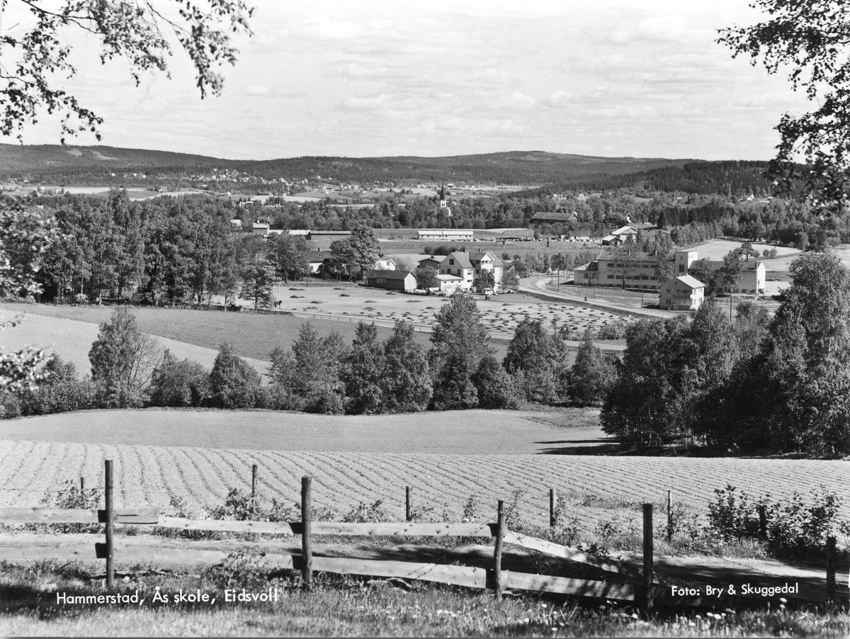 Hammerstad med Ås skole.