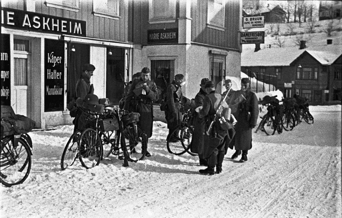 Tyske soldater i Sundet.