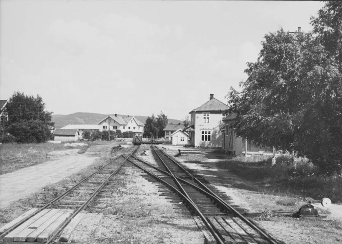 Oversiktsbilde fra Lierfoss stasjon etter nedleggelsen.