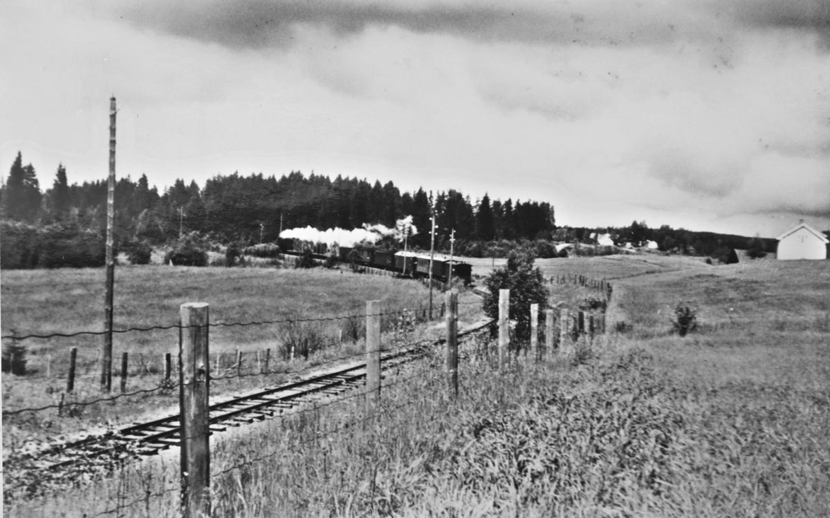 Tog til Sørumsand nord for Skulerud stasjon