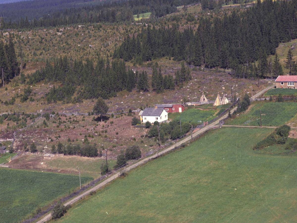 Flyfoto, Solheim, Åsmarka, Ringsaker.
