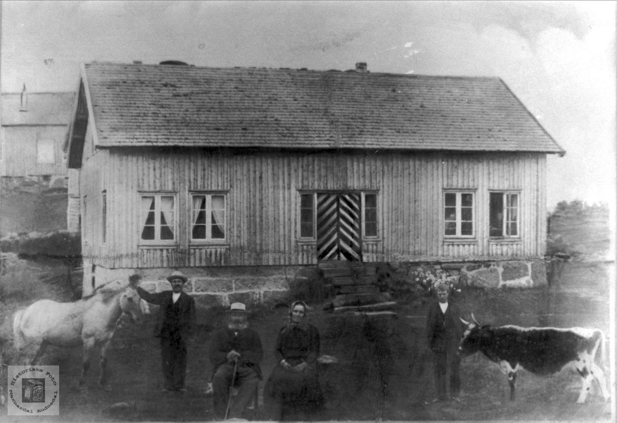 Hovedhuset på Abelset i Bjelland.