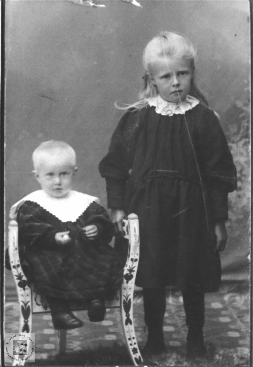 Barneportrett av Ola Åkseth og Astrid Høye. Laudal og Øyslebø.