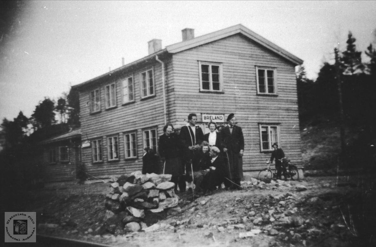 Breland stasjon i Øyslebø.