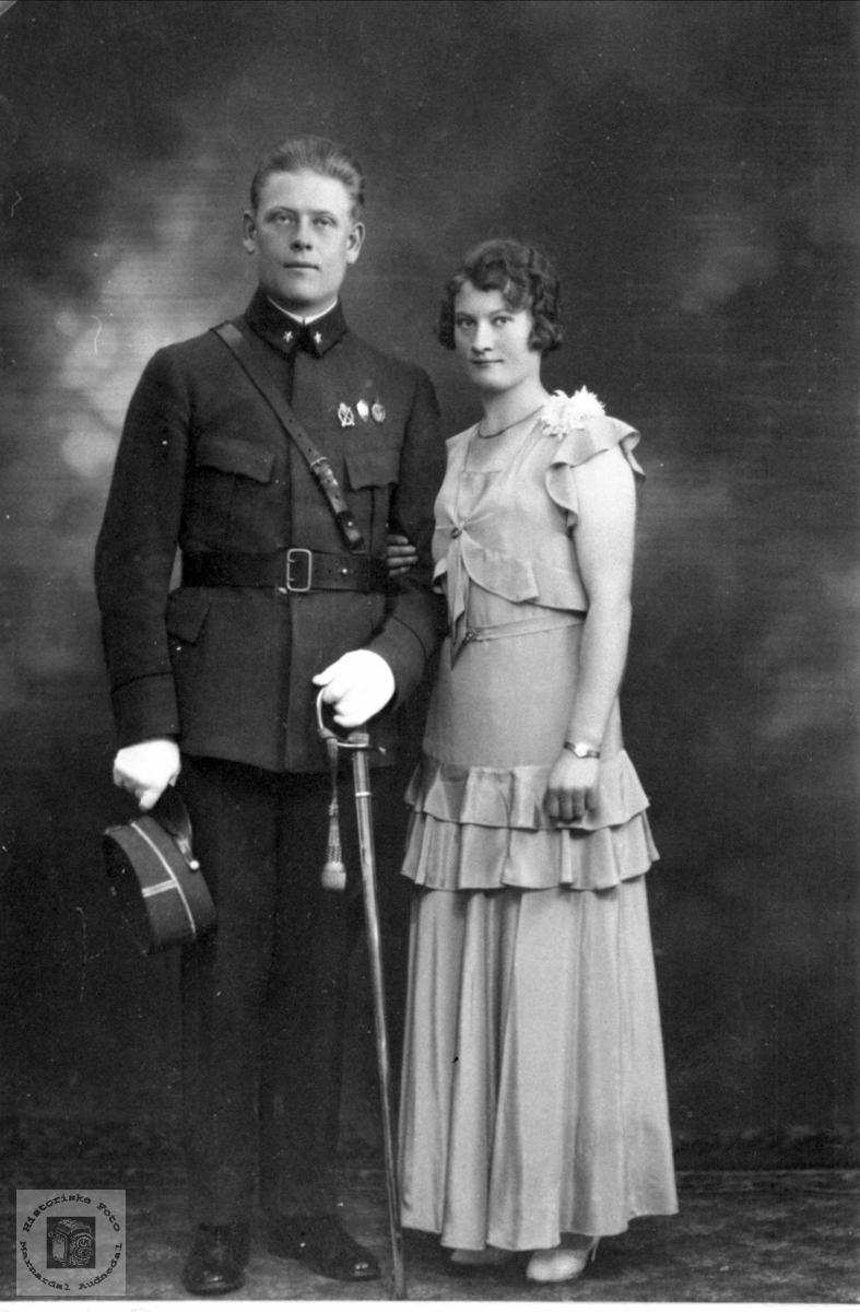 Ekteparet Jakob Bjarne og Gudrun Bue, Øyslebø.