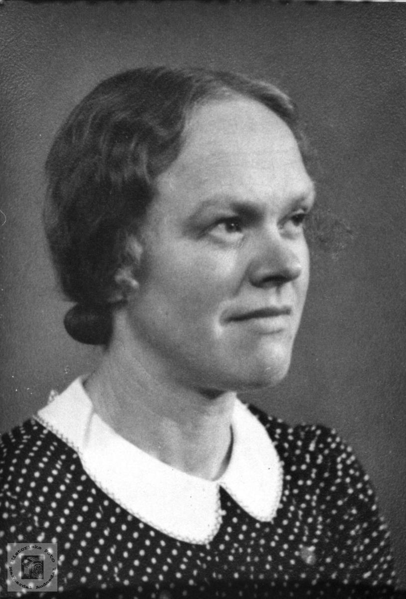 Portrett av Anna Bjørnestøl, Øyslebø.