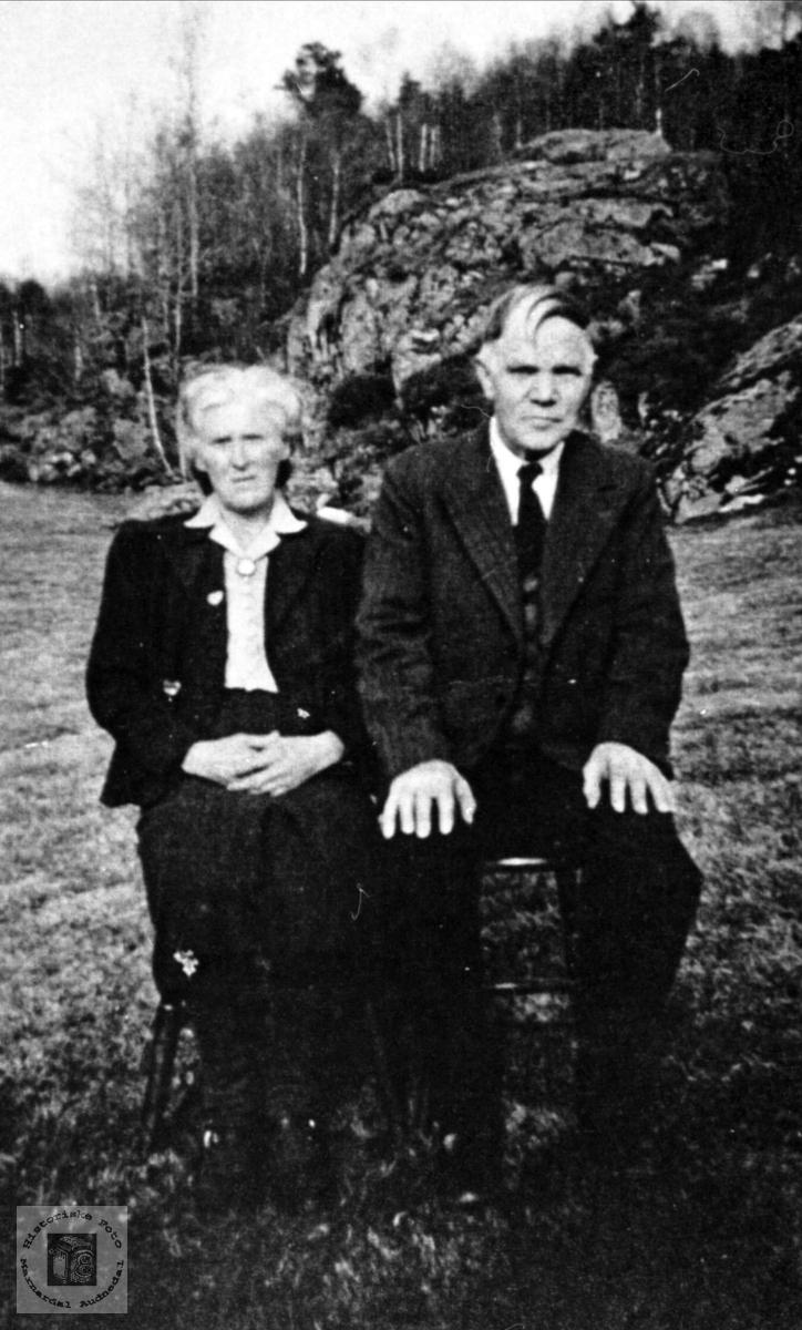 Ekteparet Birgitte og Bernt Elias Jerstad, Øyslebø.