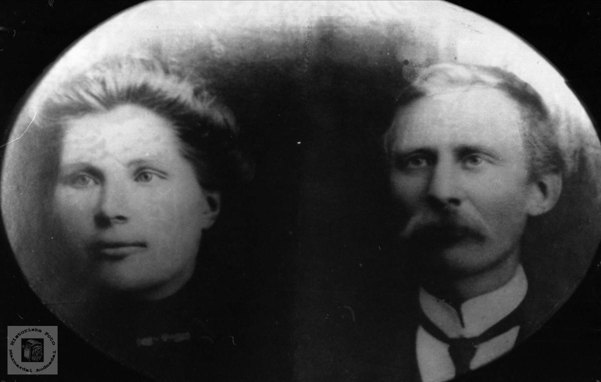 Ekteparet Martha og Olaf Manneråk, Øyslebø.