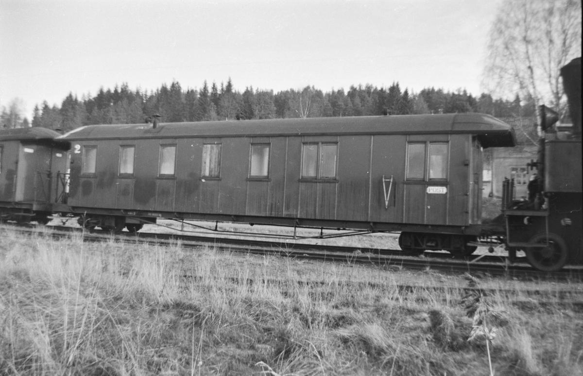 Personvogn BCo3 på Skulerud stasjon.