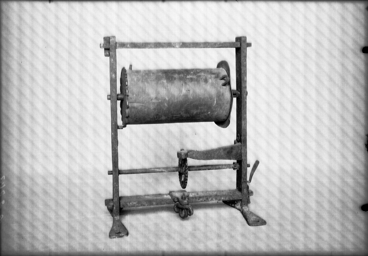 Stekvändare av Christopher Polhems konstruktion. Ett kugghjul av järn.