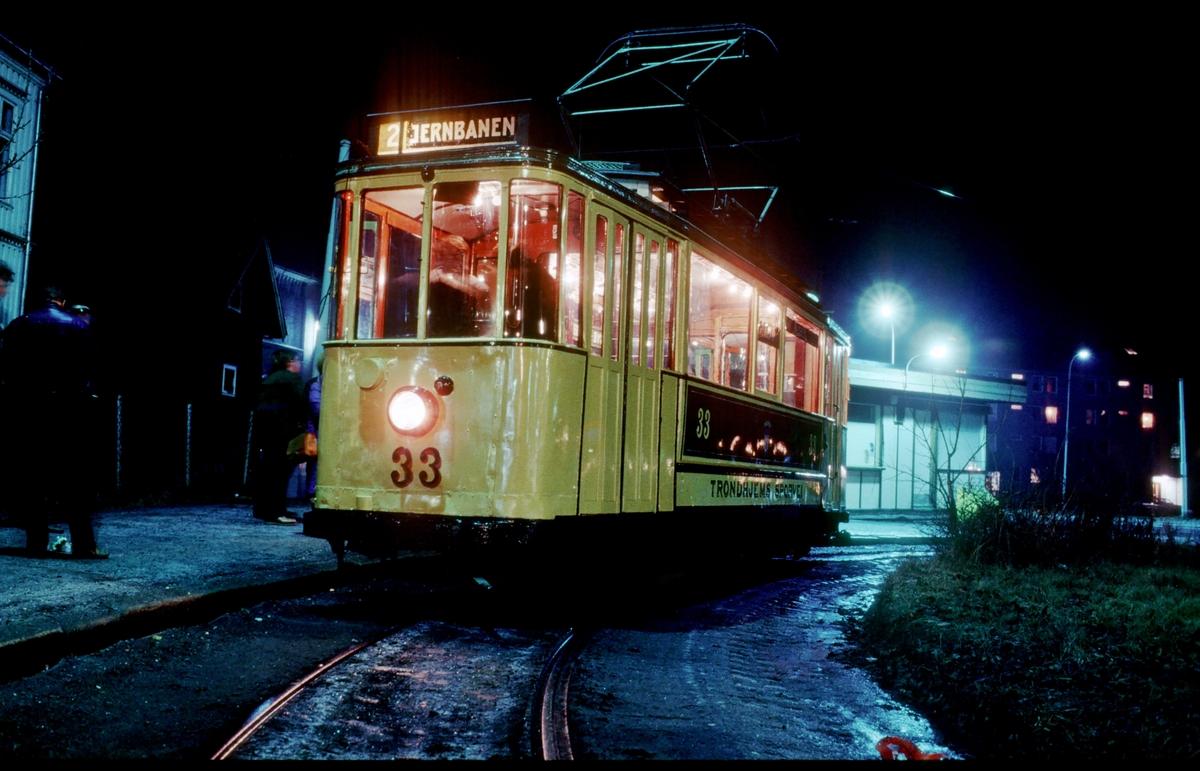 Trondheim sporvei vogn 33.