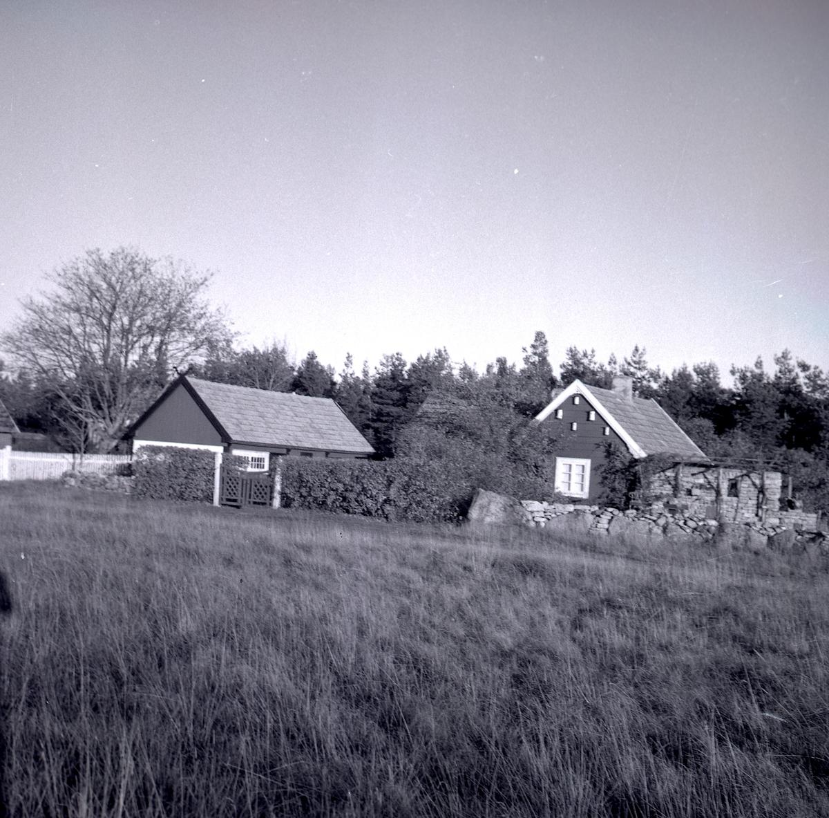 Ett bostadshus och en ekonomibyggnad.