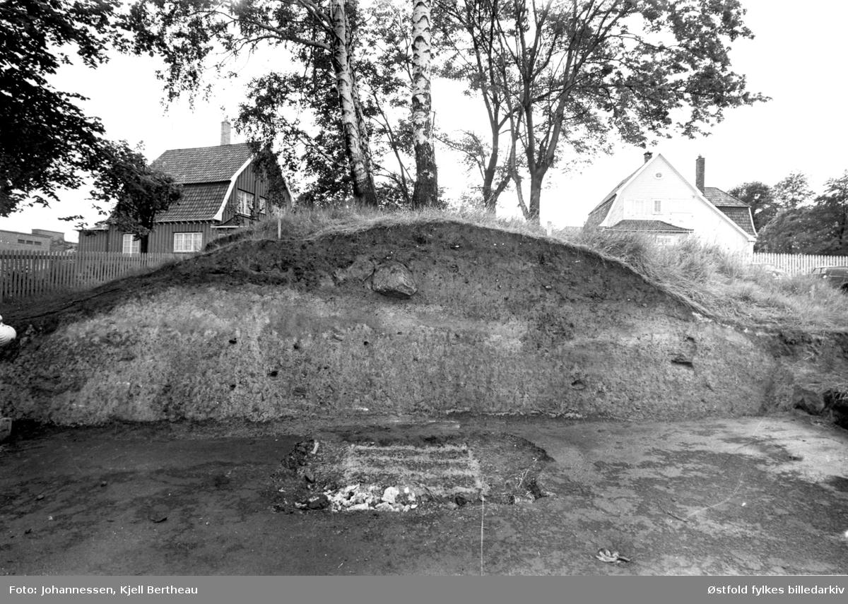 Arkeologisk utgraving av Borgs byvoll mot St. Mariegate i Sarpsborg.