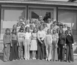 Mørkved skole, 6 klasse. Foran fra venstre: Anne Guri Ekern